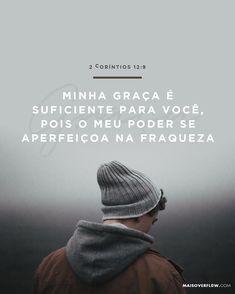 """""""Minha graça é suficiente para você pois o meu poder se aperfeiçoa na fraqueza""""  2 Coríntios 12:9  #30DaysOfBibleLettering () maisoverflow.com  X"""