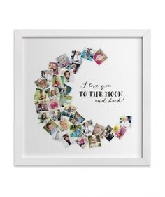 Show her exactly how much you love her with this adorable custom print, which will look right at home on her wall. Available in three colors and 11 different frames.