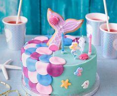 Baby Girl Birthday Cake, Felt Cake, Pinata Cake, Mermaid Cakes, Sugar Cake, Cake & Co, Cake Decorating Tips, Let Them Eat Cake, Birthday Decorations
