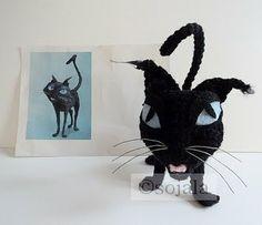 Halloween Black Cat Free Crochet Pattern ~ Amigurumi To Go