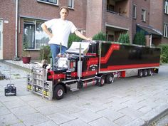 A radio-controlled truck.