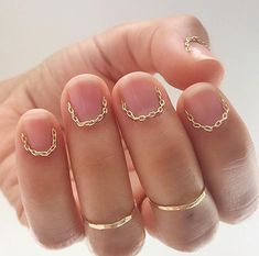 The Edit: Our Favourite Minimalist Manicures :: This Is Glamorous Gel Nails, Acrylic Nails, Manicures, Bronze Skin, Gold Chrome, Minimalist Nails, 2015 Hairstyles, Hair Styles 2016, Perfect Makeup