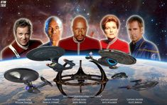 Star Trek: The Captains Star Trek Wallpaper, Star Trek Show, Star Trek Series, Star Trek Voyager, Akira, Deep Space Nine, Star Trek Gifts, Star Trek Episodes, Star Trek Captains