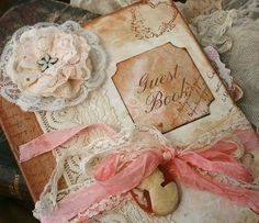 Ideal for well over 400 guests Custom Vintage style Guest book for wedding by youruniquescrapbook, £195.00