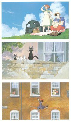 Hayao Miyazaki, Studio Ghibli, Kiki's Delivery Service, The Art of Kiki's Delivery Service, Osono Kiki Delivery, Kiki's Delivery Service, Studio Ghibli Art, Studio Ghibli Movies, Hayao Miyazaki, Totoro, Le Vent Se Leve, Wind Rises, Naruto
