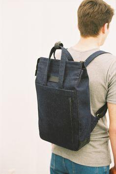 Handle Backpack Denim