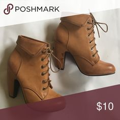 Congac/light brown lace up booties Congac/light brown lace up booties Rouge Shoes Ankle Boots & Booties
