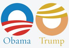 Just noticed how well the Obama logo works for Trump with some simple color changes and rotation.