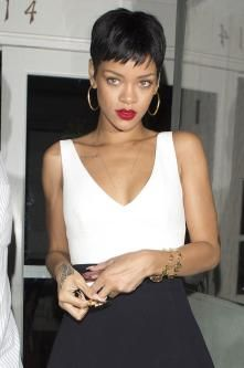 #rihanna #short hair don't care