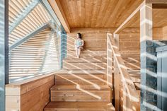 Sauna bathing is an essential part of Finnish culture and national identity. There are only million Finns but million saunas. Public saunas used Saunas, Luz Natural, Sauna Design, Timber Architecture, Finnish Sauna, Natural Swimming Pools, Natural Pools, Small Pools, Built Environment