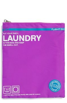 FLIGHT 001 'Go Clean' Nylon Laundry Travel Pouch available at #Nordstrom