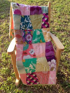 Bright and Cheery Joel Dewberry baby girl tumbler quilt on Etsy