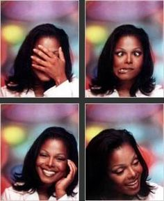 Janet Jackson in MTV's TRL photo booth