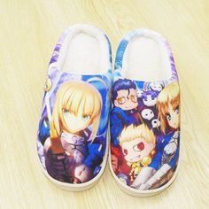 Camplayco Fate Zero Warm Winter Soft Slippers Indoor Shoes Cosplay Size:6.5(US) -- Visit the image link more details.