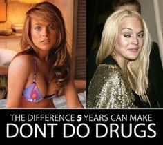 Lindsay Lohan-Drug Use - Before and After