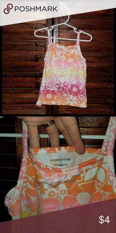 Colorful Ombre Tank Top Super cute hibiscus ombre tank top Shirts & Tops Tank Tops
