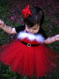 Christmas Photo prop Tutu Dress Santa tutu for  with by shoppe3130, $35.00