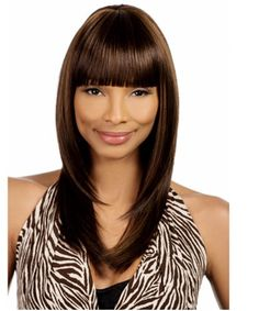 Vivica A. Fox Brand, Vivica Fox, Colored Highlights, Synthetic Wigs, Bangs, Stretches, Cap, Pure Products, Long Hair Styles