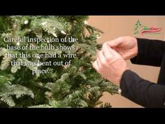 How to fix Christmas lights & lighting on prelit Christmas trees - YouTube