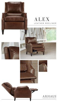 8 Best Brown Leather Recliner images | Leather recliner