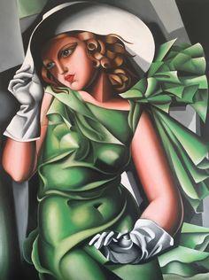 """la ragazza in verde "" da Tamara de Lempicka"