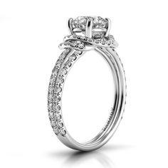 Danhov Solo Filo Double Shank  Engagement Ring. Handmade in the USA. SE118. www.danhov.com