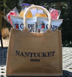 19cc9ec6dd7 Simply Nantucket with a Twist! Nantucket guests will love the burlap bag  momento!