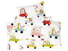 dcdee5d35b Kinderbettwäsche Bio-Baumwolle Autos von Made by Hans Natur, Bettbezug 100  x 135 cm, Kissen 40 x 60 cm