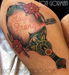 by jon gorman at providence tattoo  #jongorman #providencetattoo #mirror #tattoo #staystrong #lipstick #girltattoo #colortattoo