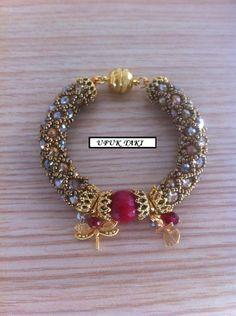 Beaded bracelet by UfukTaki on Etsy, $40.00