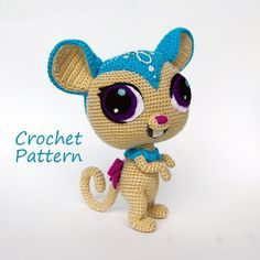 Crochet Pattern. Littlest Pet Shop Sweet Brown Mouse. DIY
