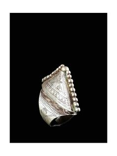 Africa | A silver Tuareg ring from Niger | ca. 1970.