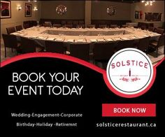 Book Event today for Spring/Summer at Solstice Restaurant & Wine Bar. http://ift.tt/2mfpIEK