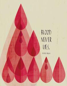 Dexter Quote - Blood Never Lies - Art Print / LuckySkye #dexter #bloodneverlies #artprint #etsy