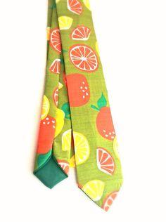 Tropical Citrus Fruit Necktie on Etsy, $30.00 hipster tie