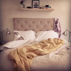 Because going out is hard.   19 Deliciously Messy Beds You'll Want To Crawl Into Right Now
