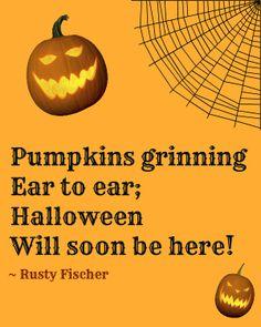 Pumpkins grinning... A Halloween poem