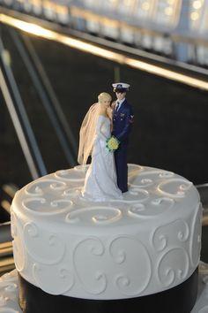Coast Guard Nautical Wedding Cake Topper