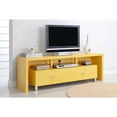Mueble de Televisión de diseño de la serie kubox muy juvenil en colores muy vivos que harán que su salón sea muy alegre y original. Darán elegancia y un aire juvenil tanto si lo pones en el salón como si lo haces en la entrada de su casa. Puede escoger entre varios colores: naranja, blanco, negro, verde y amarillo.