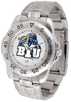 NCAA Brigham Young Cougars Men's Game Day Sport Metal AnoChrome Watch by SunTime. NCAA Brigham Young Cougars Men's Game Day Sport Metal AnoChrome Watch. Links Make Watch Adjustable.