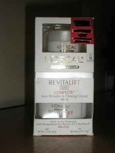 Loreal Revitalift Day with Free Bonus Eye Cream by L'Oreal Paris. $19.49. retinol. anti aging. anti wrinkle. cream. par elasttyl. Product Details:  Revitalift by L'Oreal relies on Pro Retinol A to allow Vitamin A to be absorbed topically into the complexion, which will then hopefully improve the metabolism of the cells to give your face a radiant glow once again. These products also claim to smooth and soften the skin, and also give the added benefit of boosting coll...