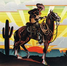 Cowboy, Peter Palombi for Paper Moon Graphics, 1976.