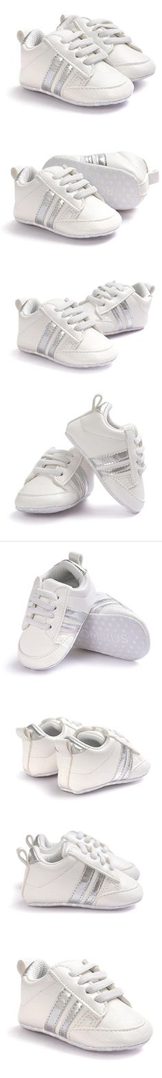 Newborn Infant Boys Girls Stripe Prewalker Casual Sneaker Crib Shoes