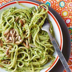 Zucchini Pesto with Linguine