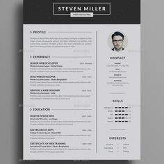 Resume Design is not just for job seekers. A professionally written resume is vital in today's competitive marketplace, and those of you that have procrastinated in … Graphic Design Resume, Cv Design, Interior Design Cv, Job Resume Template, Cv Template, Job Application Letter Sample, Cv Simple, Cv Inspiration, Creative Cv