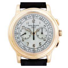 Patek Philippe Rose Gold Chronograph Wristwatch Ref 5070R