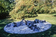 Richard Long, MONT BLANC CIRCLE Richard Long, Andy Goldsworthy, Modern Landscaping, Community Art, Stone Art, Contemporary Art, Sculptures, Landscape, Driftwood