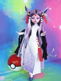 Espeon Custom OOAK Pokemon Doll by Dollightful