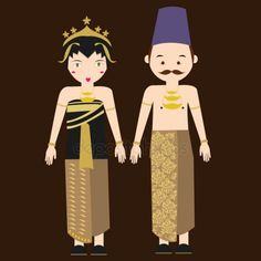 Find indonesian national dress stock images in HD and millions of other royalty-free stock photos, illustrations and vectors in the Shutterstock collection. Thousands of new, high-quality pictures added every day. Thanks Card Wedding, Bride And Groom Cartoon, Javanese Wedding, Cartoon Costumes, Dress Clothes For Women, Stock Foto, Dress Images, Traditional Dresses, Traditional Wedding