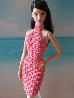 Crochet pattern for a Barbie dress - for sale on Ravelry